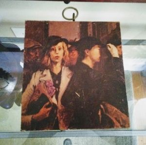 Mod Podge on Raw Wood  Raphael Soyer Office Girls